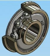 Ball Bearing - Tapered Outer Diameter, Flanged Ball Bearing - F2ZZ